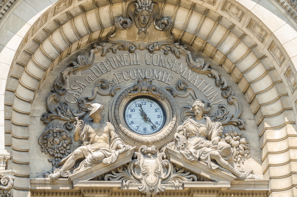 CEC Palace detail - National Savings Bank Bucharest